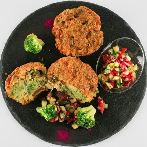 Muffin s brokulom i chorizo kobasicom