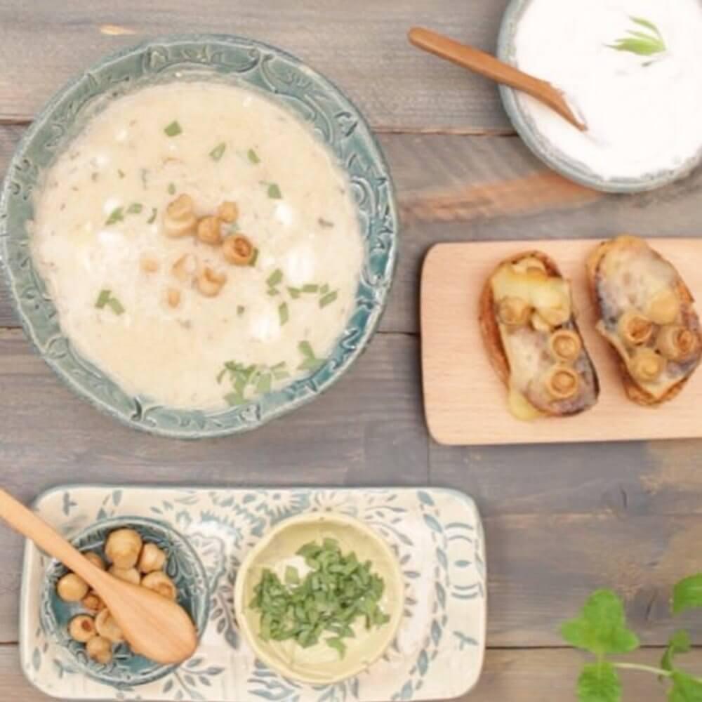 Гъбена супа с вино
