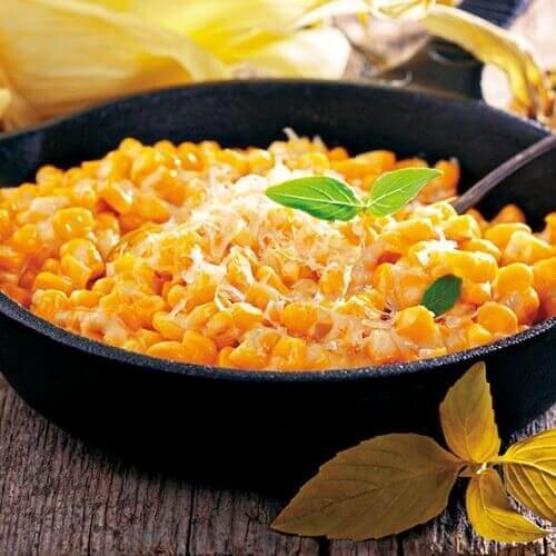Универсална гарнитура с царевица и пармезан