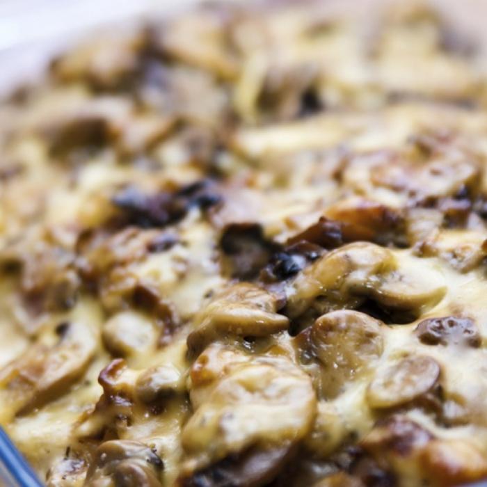 Картофи с гъби на фурна