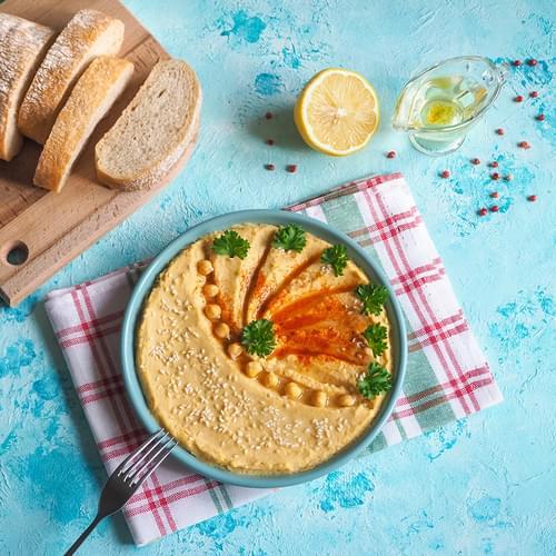 Дип от хумус - арабски сос от нахут и сусамена паста