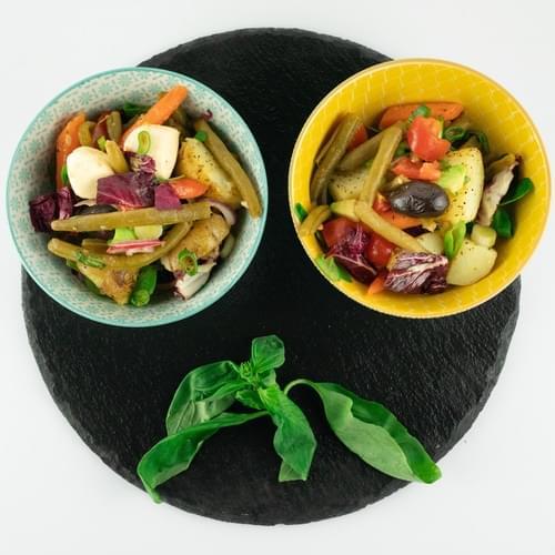 Хрупкава салата с био зелен фасул
