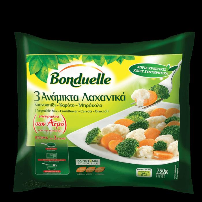 Μείγμα 3 λαχανικών: Κουνουπίδι – Καρότα – Μπρόκολο