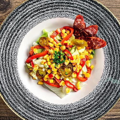 Μεξικάνικη σαλάτα με γλυκό καλαμπόκι