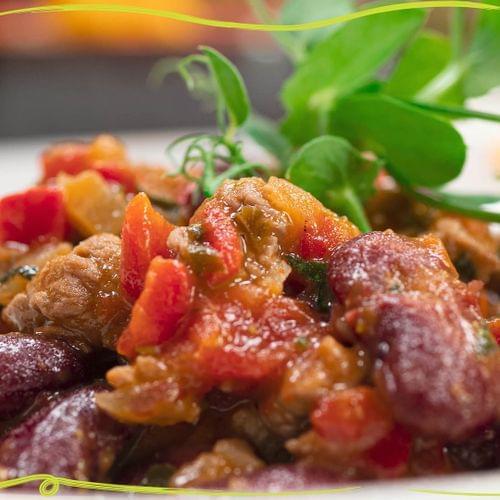 ΛΑΧΑΝΙSTAS Μεξικάνικο πιάτο με μοσχαράκι  & κόκκινα φασόλια