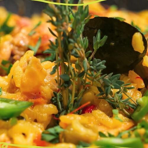 ΛΑΧΑΝΙSTAS Παέγια λαχανικών με κοτόπουλο & μύδια