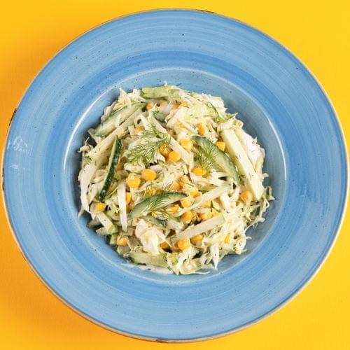 კომბოსტოს სალათი სიმინდით და ვაშლით (კომბოსტოს სალათი)