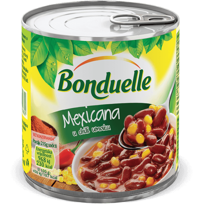 Mexicana, Crveni grah s kukuruzom u chilli umaku