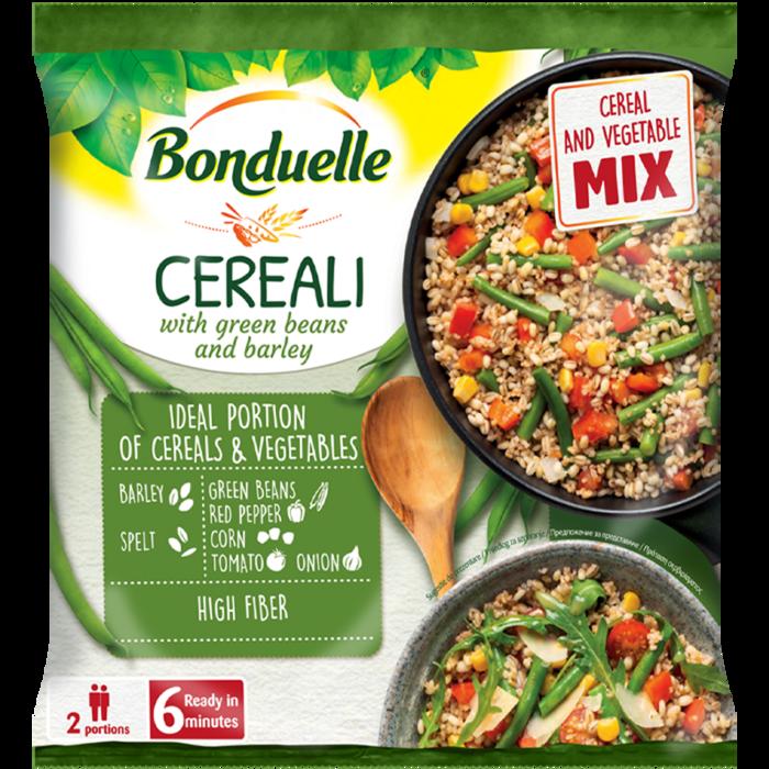 Cereali cu fasole verde și orz