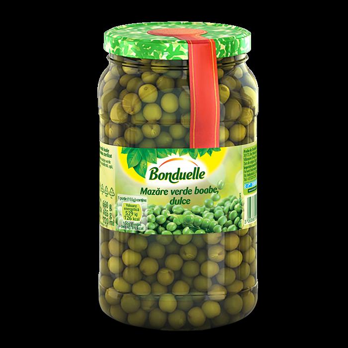 Mazăre verde boabe, dulce, 720 ml