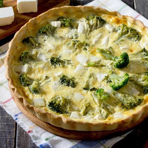 Tartă cu broccoli