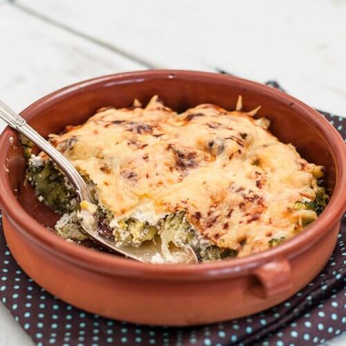 Prânz rapid cu broccoli răsfățat în smântână