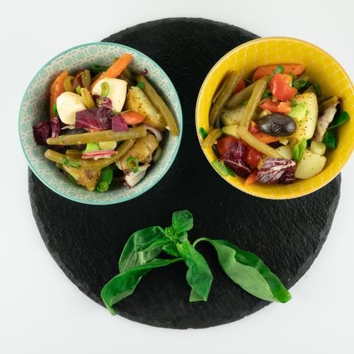 Salată crocantă cu fasole verde bio