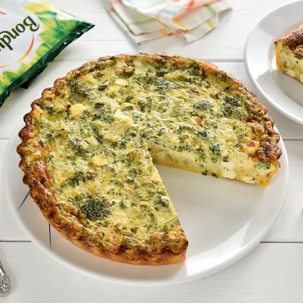 Tartă cu broccoli fără gluten