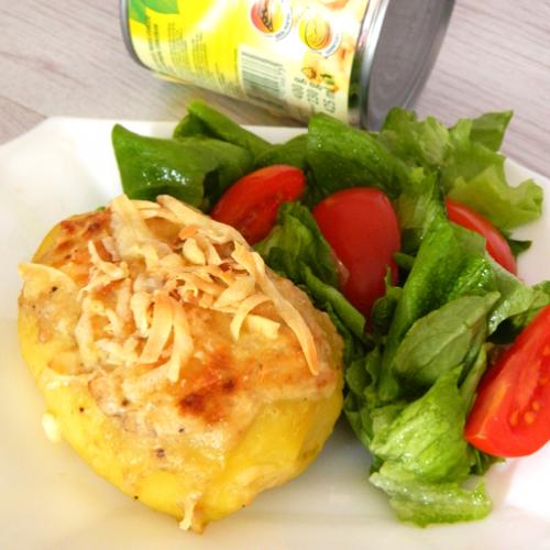 Cartofi umpluți cu carne și ciuperci