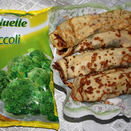Clătite cu broccoli