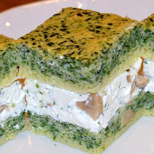 Cuburi aperitiv cu cremă de brânză și ciuperci