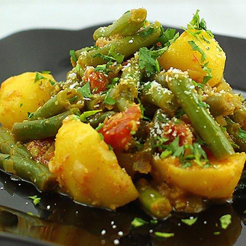 Curry cu fasole verde și cartofi