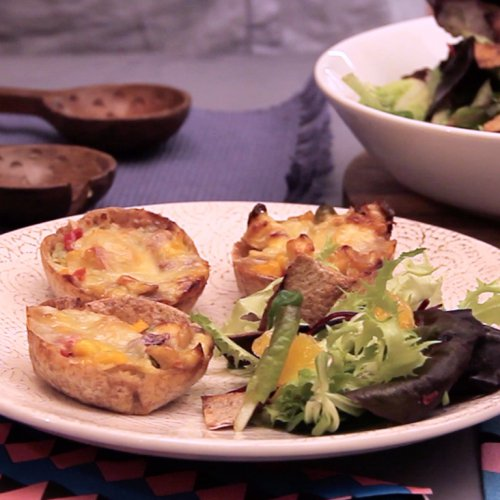 Tartine mexicane cu gorgonzola