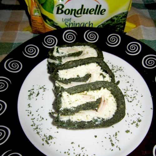 Ruladă de brânză și spanac