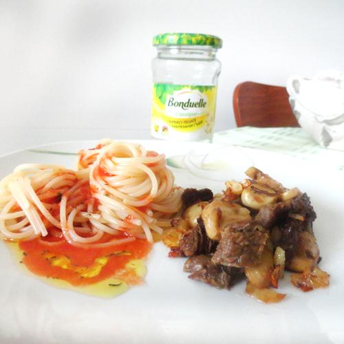 Spaghete cu ciuperci Bonduelle