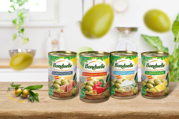 Откройте для себя фаршированные оливки Bonduelle