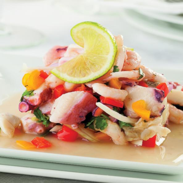 Цевиче - сырая морская рыба