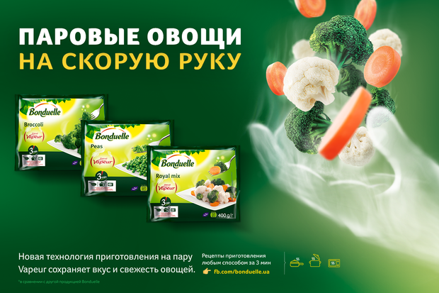Откройте для себя паровые овощи на скорую руку!