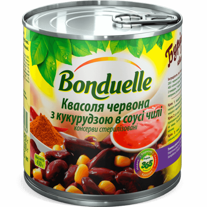 Фасоль красная с кукурузой в соусе чили