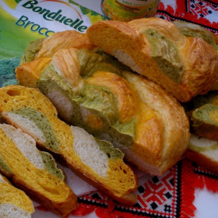 """Разноцветный хлеб """"Радуга Бондюэль"""""""
