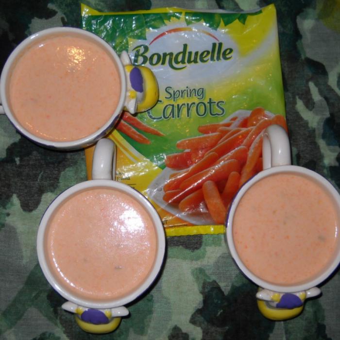 Молочный морковно-сельдерейно-яблочный коктейль