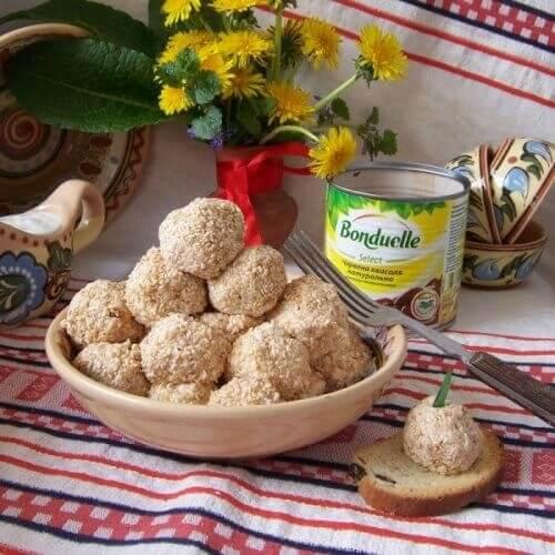 Гострі квасолево-сирні кульки (закуска)
