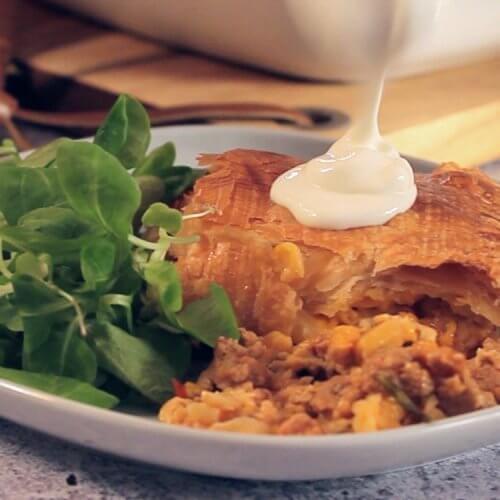 Чилійський кукурудзяний м'ясний пиріг