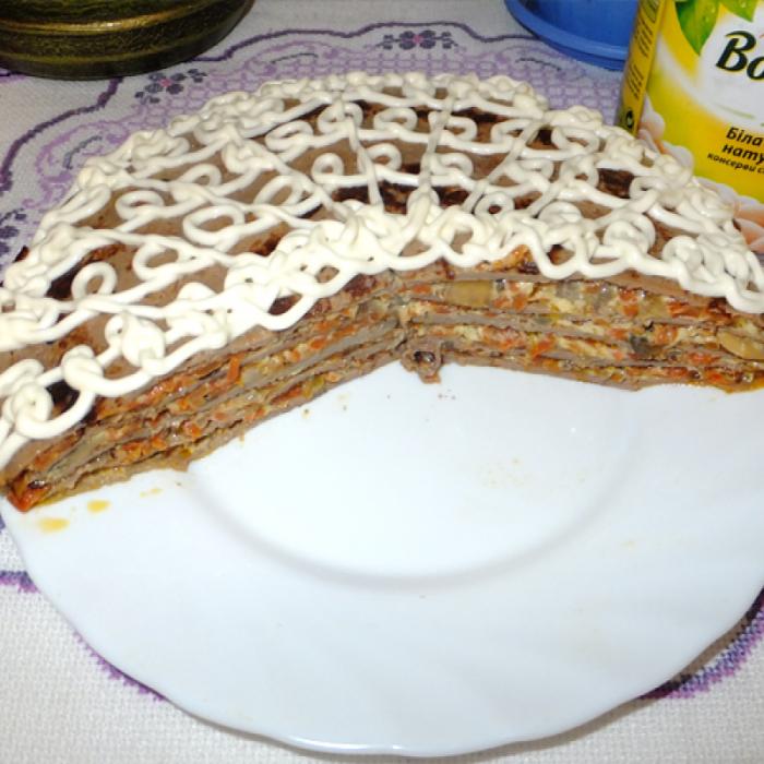 "Закусочний торт з білою квасолею ""Бондюель"""